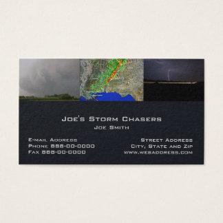 Carte de visite de chasseur de tempête