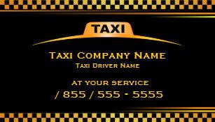 Carte De Visite Chauffeur Taxi Cab