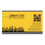 Carte de visite de chauffeur de taxi de chauffeur