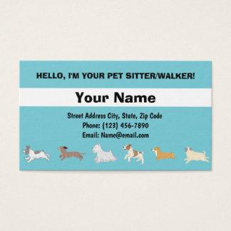 Carte de visite de chiens courants