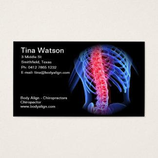 Carte de visite de chiroprakteur