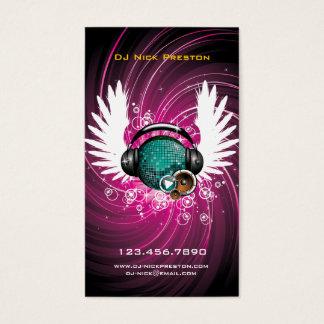 Carte de visite de ciel de musique du DJ
