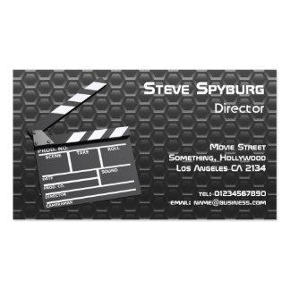Carte de visite de claquette de film de studio cin