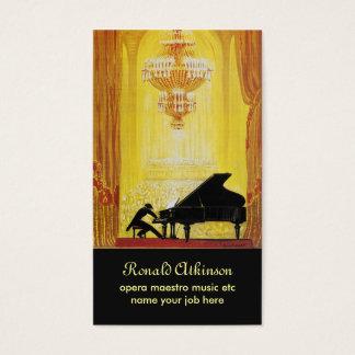 carte de visite de classique de musique d'opéra de