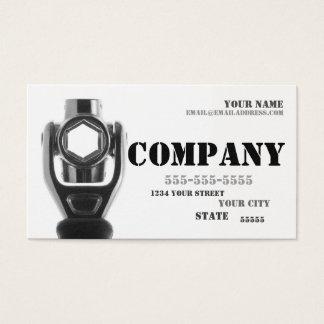 Carte de visite de clé à douille de mécanicien et