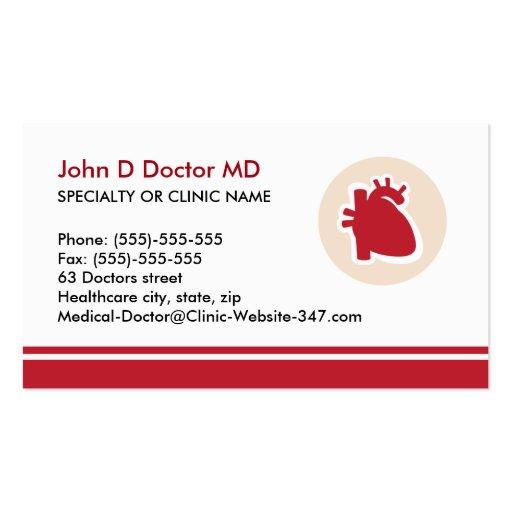 Carte de visite de coeur de cardiologie de cardiol