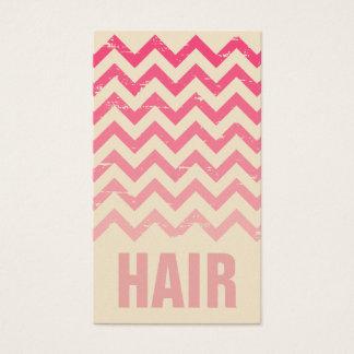 Carte de visite de coiffeur - Ombre rose criqué
