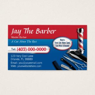 Carte de visite de coiffeur (poteau de