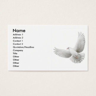 Carte de visite de colombe de paix