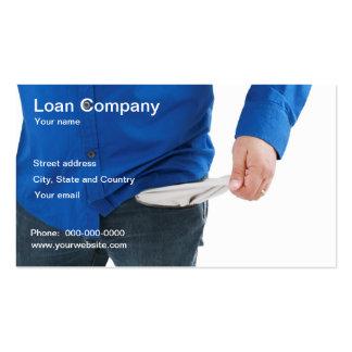Carte de visite de compagnie de prêt