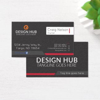Carte de visite de conception d'art visuel