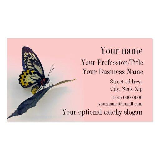 Carte de visite de conception de papillon de macha