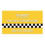 Carte de visite de conducteur de taxi
