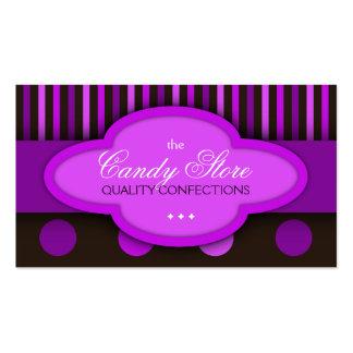 Carte de visite de confiserie de chocolats de