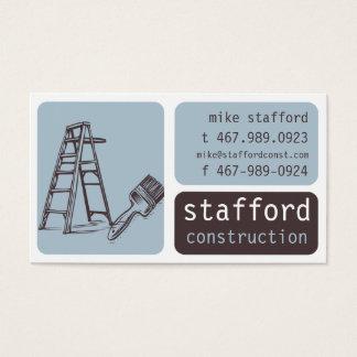 Cartes de visite texte brun for Carte visite construction