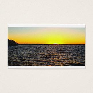 Carte de visite de coucher du soleil