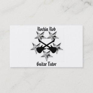 Carte De Visite Cours Particuliers Guitare