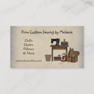 Carte De Visite Couture Rustique Darts