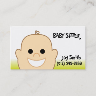 Carte De Visite Creche Sitter Bebe