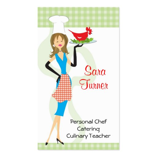 Carte de visite de cuisine de chef de nourriture
