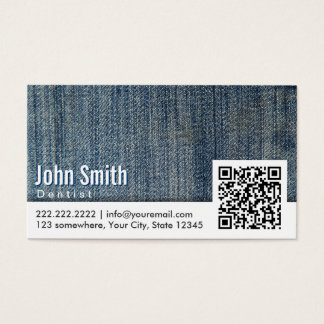 Carte de visite de dentiste de code des blues-jean