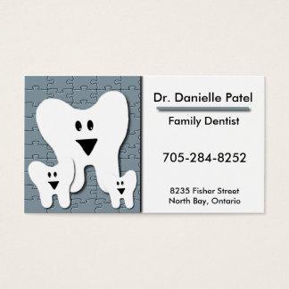 Carte de visite de dentiste de famille - dents