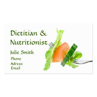 Carte de visite de diététicien