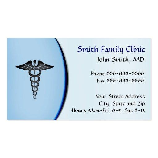 Carte de visite de docteur Medical Symbol de médec