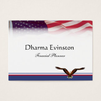 Carte de visite de drapeau américain