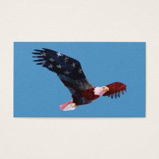 Carte de visite de drapeau américain d'Eagle