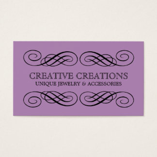 Carte de visite de fantaisie violet de Flourish