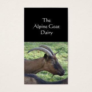 Carte de visite de ferme de chèvre