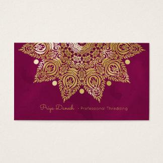 Carte de visite de feuille d'or de mandala