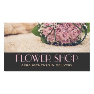 Carte de visite de fleuriste de la livraison de fl