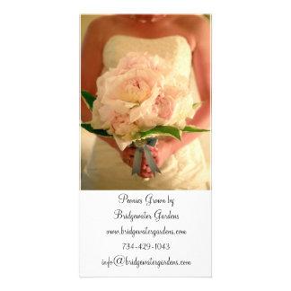 Carte de visite de fleuriste de mariage photocarte customisée