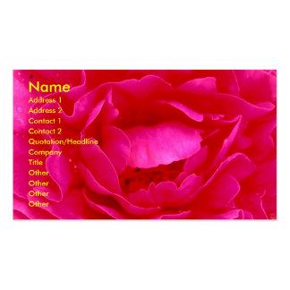 Carte de visite de fleuriste de rose de rose - per