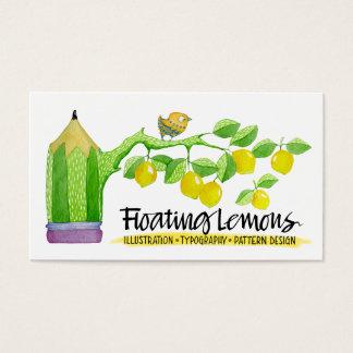 Carte de visite de flottement de citrons
