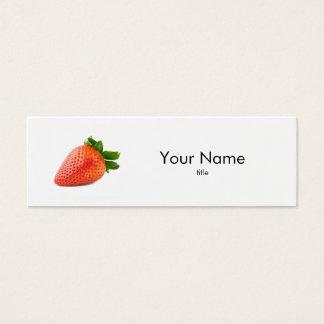 Carte de visite de fraise
