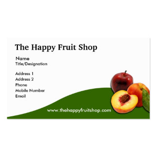 Carte de visite de fruit