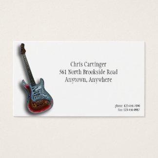 Carte de visite de guitare