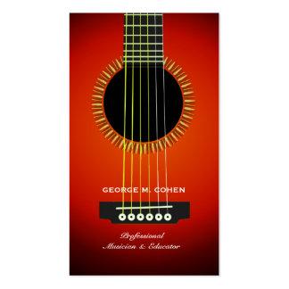 Carte de visite de guitare de musique