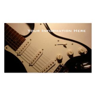 Carte de visite de guitare électrique