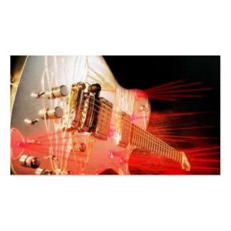 Carte de visite de guitare guitare criquée de mir