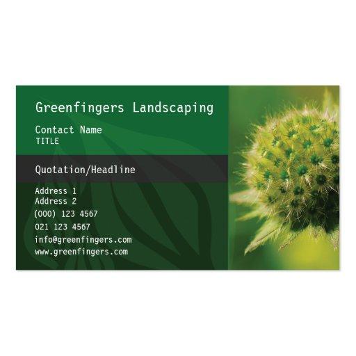 Carte de visite de jardinage