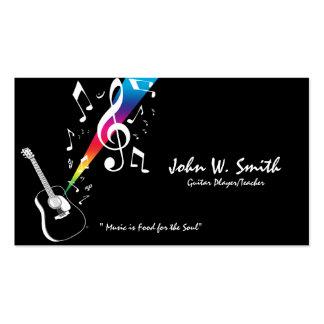 Carte de visite de joueur/professeur de guitare