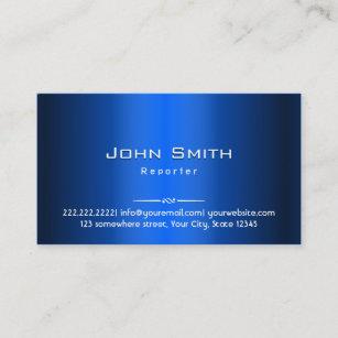 Carte De Visite Journaliste En Mtal Bleu