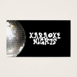 Carte de visite de karaoke