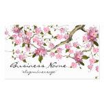 Carte de visite de la branche d'arbre de fleurs de