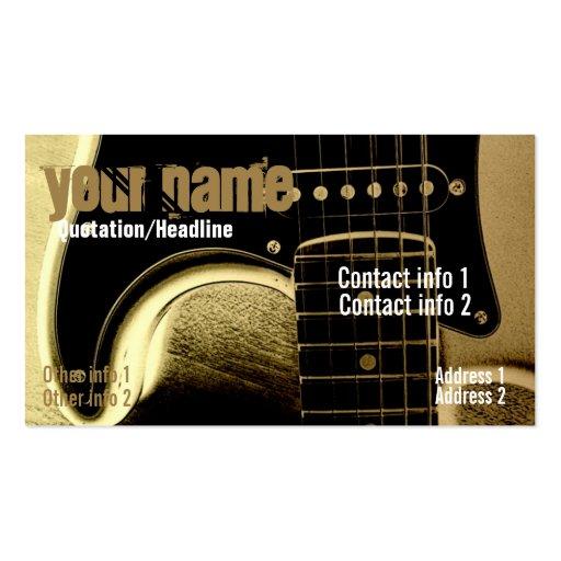 Carte de visite de Latte de guitare