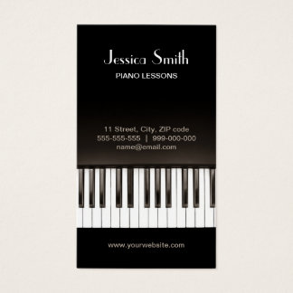 Carte de visite de leçons de musique de piano